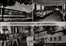 Neustadt am Rennsteig DDR AK 1987 FDGB Erholungsheim Am Kammweg mit Gaststätte