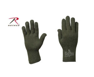 D-3A Wool Glove Liners Black & OD Green Made in the USA