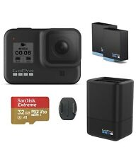 GoPro Hero8 Black Action + Accessories+ Extra Battery + Dual Charger + 32G M