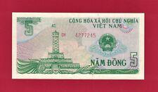 New listing Vietnam Unc Banknote: Five 5 Dong 1985 (P-92a) Obv: Tower, Rev: Vietnam's Emblem