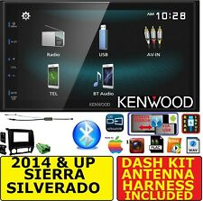 2014 & UP SIERRA SILVERADO KENWOOD SCREEN MIRROR BLUETOOTH USB CAR RADIO STEREO