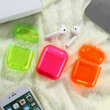 Transparent Candy Colored Case Hard Protective Shell For Apple Airpods Earbuds