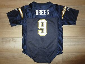 Drew Brees #9 San Diego Chargers Reebok Jersey Toddler Baby 24m Rookie