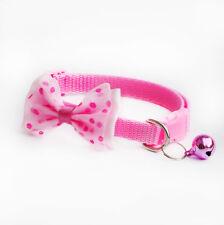 Lovely Dog Cat Pet Cute Bow Tie With Bell Adjustable Puppy Kitten Necktie Collar