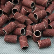100 Cilindri Scovolini Abrasivi Fresa Lima Unghie Rimozione Gel UV Nail Art