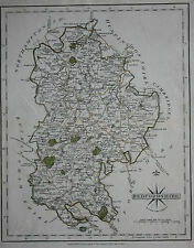 Original antique map ENGLAND, BEDFORDSHIRE, LUTON, WOBURN, AMPTHILL, Cary 1793
