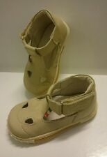BABY Jungen Kinder Schuhe SANDALEN MADE IN ITALY Gr. 20 Beige LEDER NEU Neu
