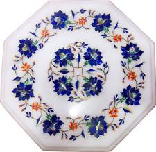 "12""x12"" Coffee table top Semi precious stones Handmade Marble Inlay"