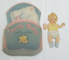 """Vintage Saalfield """"Cradle Baby and Her Clothes"""" Paper Doll, 1948"""