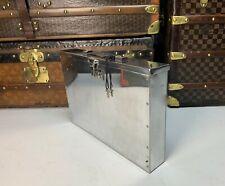 Executives Vintage Aluminium Polished Attache Briefcase Bureau Bespoke Rare