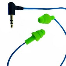 NEW Workinbuds Green/Blue Earplug Earphones With Cable Clip