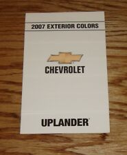 2007 Chevrolet Uplander Exterior Interior Colors Foldout Sales Brochure 07 Chevy