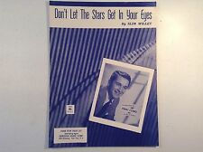 DON'T LET THE STARS GET IN YOUR EYES- SHEET MUSIC-1962-PERRY COMO-SONG-SHOW BIZ