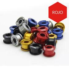 5 Tornillos para platos bicicleta Aluminio Anodizado Bielas Rojo Azul Negro Oro