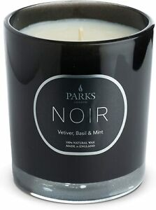 PARKS CANDLE NOIR AROMATHERAPY NATURAL WAX CANDLE VETIVER BASIL & MINT NEW