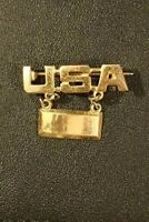 WWII USA Army Officers 2nd Lieutenant Sweetheart Jewelry Lt. Bar Fob Home Front