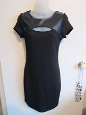 TEMT size 8  Black Speckled Knee Length Dress w/stretch.....WITH TAGS