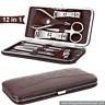 12 in 1 Stainless Pedicure Manicure Set Kit Case Nail Clipper Nipper Cutter