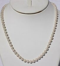 18 in cultured pearl necklace 18 kt clasp 72 round 5.5mm pearls med-fine luster