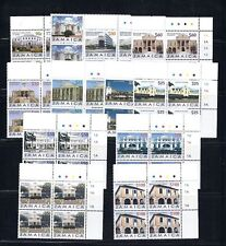JAMAICA 2005/6 Buildings set of 14 MNH blocks/4
