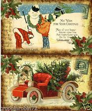 12 CHRISTMAS SNOWMAN SANTA CLAUS (118) SCRAPBOOK CARD EMBELLISHMENTS HANG TAGS