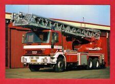 Czech Fire Truck Postcard - Iveco Magirus Cursor 6x4 Ladder - Prague - c.2005