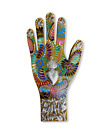 """LARGE MILAGROS WOOD HAND , SACRED HEART , HAND PAINTED , GIFTS , 11"""" X 5.5"""""""