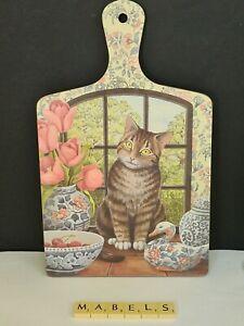 WILSCOMBE MELAMINE ~JENNY BARRON - TABBY CAT~ chopping board
