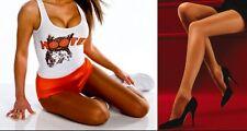 B Peavey Suntan Sexy Pantyhose Hooters Uniform Cheerleader Halloween Costume