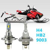2X H4 9003 LED Headlight Bulb 6000K Super White BY For Polaris RMK 700 1997-2009