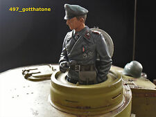 1/16 RC GERMAN TANK COMMANDER PRO-PAINTED + CONVERTED HENG LONG. TAIGEN see pics