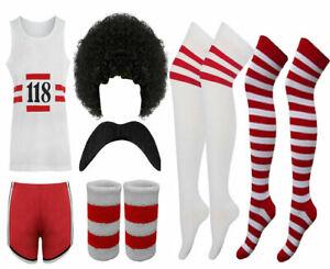 118 Fancy Dress Men Women Costume Marathon Retro Vest Short Do Stag Outfit Lot
