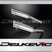 """Kawasaki ZZR1200 Mini 8"""" Stainless Round Muffler Exhaust Slip On 02 03 04 05"""