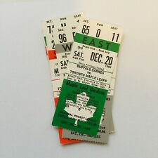Toronto Maple Leafs hockey game tickets lot deal Dec.20,1986 and more