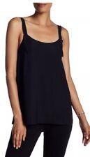 NWT $295 Helmut Lang Women's Back Tie Twill Tank Top Black Size XS