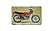 Gilera Tg1 125 Motorbike Sign Metal Retro Aged Aluminium Bike