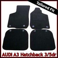 Audi A3 Mk1 1996-2003 Tailored Carpet Car Floor Mats BLACK
