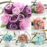 9 Heads Artificial Fake Rose Silk Flower Wedding Party Bridal Bouquet Home Decor