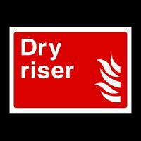 Dry Riser Plastic Sign OR Sticker - A6 A5 A4 (FE17)