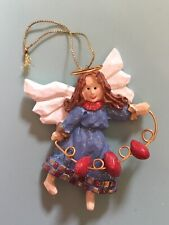 Hm Angel Christmas Tree Ornament Hearts On A String 4� Tall X 3� Wide