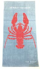 TED BAKER The World's Your Lobster Holiday Large Beach Pool Towel Blue -MSRP $52