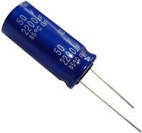 2x Condensateur électrolytique chimique 2200µF 50V THT 85°C  Ø16x35mm radial