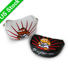 White/Black Karate Magnetic Golf Half Mallet Putter Cover Mid Mallet Headcovers