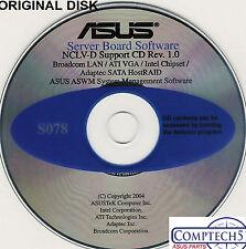ASUS GENUINE VINTAGE ORIGINAL DISK FOR NCLV-D SERVER Drivers Disk S078