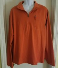 Fleid & Stream Quarter Zip Orange Fishing, Hunting, Long Sleeve Shirt SZ XL