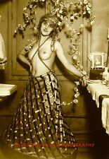 """Nude Woman Hotel Room 8.5x11"""" Photo Print, Vintage Naked Female, French Postcard"""