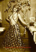 "Nude Woman Hotel Room 8.5x11"" Photo Print, Vintage Naked Female, Erotic Postcard"