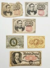Lot of (6) 1860-70's US 50 Cent, 10 Cent & 5 Cent Fractional Currency Bank Notes