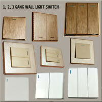 1/2/3 Gang Wall Electric Light Switch Brushed Gold/Textured Cream/White Finished