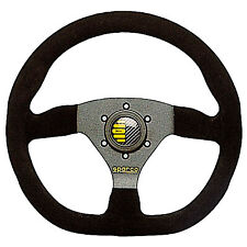 Sparco Ring L360 Black Leather Racing Steering Wheel 3 Spoke - Flat Dish - 330mm